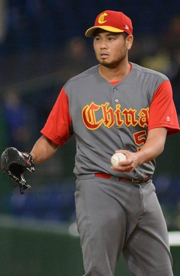 Bruce Chen, panameño que representa a China, lanzó 2.2 entradas y dominó a Cuba. Foto: Ricardo López Hevia/ Granma.