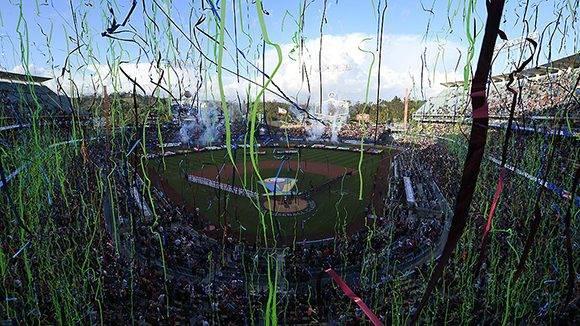 Fiesta en Los Ángeles, finalmente el título se queda en casa. Foto: WBCBaseball/ Twitter.