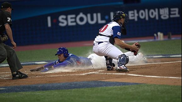 Corea del Sur venció a China Taipéi en la décima entrada. Foto: @WBCBaseball / Twitter.