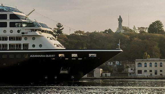 Llega al puerto de la Habana, el Crucero Azamara Quest de la compañia  Royal Caribbean, procedente de los Estados Unidos. Foto: Jennifer Romero/Cubadebate.