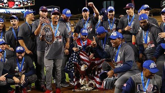 El equipo de Estados Unidos celebra el título de campeón del IV Clásico Mundial. Foto: WBCBaseball/ Twitter.