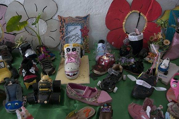 Exposición de la escuela primaria Mariana Grajales en la Habana del Este. Foto: Ladyrene Pérez/ Cubadebate.