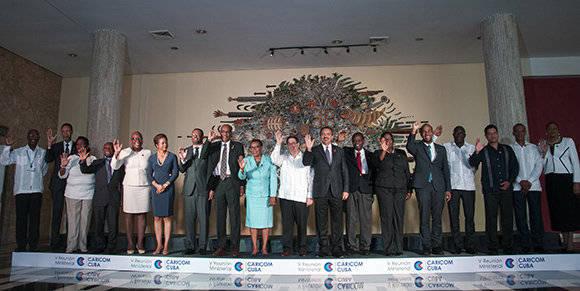 Foto oficial de la V Reunión CARICOM-Cuba. Foto: Ladyrene Pérez/ Cubadebate.
