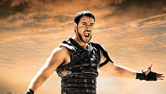 Russell Crowe en el personaje de Gladiator.