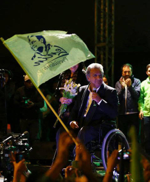 Lenín Moreno se presentará otra vez ante el pueblo ecuatoriano en la segunda vuelta de las elecciones el próximo 2 de abril. Foto: Reuters.