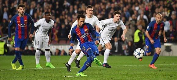 Neymar fue el emjor jugador del Barcelona, lideró al equipo en la remontada. Foto: Laurence Griffiths/ Getty.