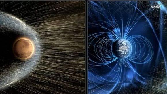 Marte podría ser habitable si se crea artificialmente algo que la Tierra ya posee: un campo magnético protector. Foto: NASA.