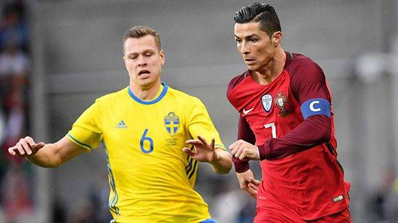 Cristiano Ronaldo llegó a 71 goles con Portugal, pero su país cayó 2-3 ante Suecia. Foto tomada de AS.