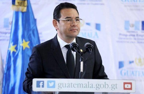 Mandatario de Guatemala. Foto: Gobierno guatemalteco.