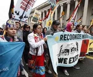 Los participantes en la marcha acusaron que el gobierno no los escucha.