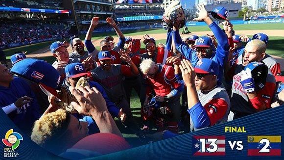 Por lo visto hasta el momento, Puerto Rico es el principal favorito a ganr este Clásico. Foto: @WBCBaseball/ Twitter.