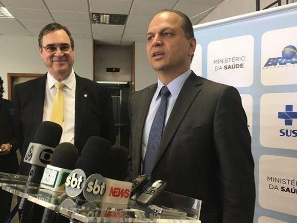 El ministro de Salud de Brasil, Ricardo Barros. Foto: Globo.