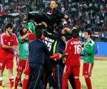 Selección de fútbol e Siria. Foto: AFP.