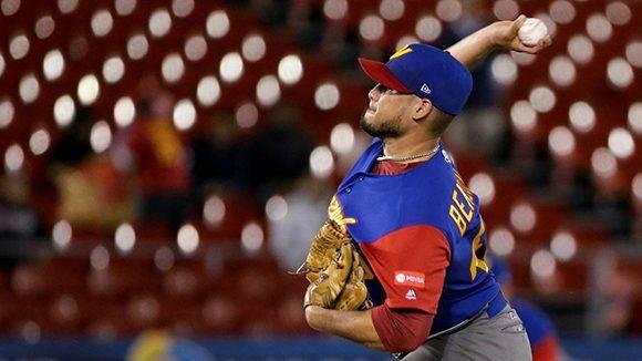 Venezuela llegó con ventaja de 2-1 al octavo inning. Foto: EFE.