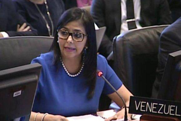 Delcy Rodriguez interviene en la OEA (Foto: Internet)