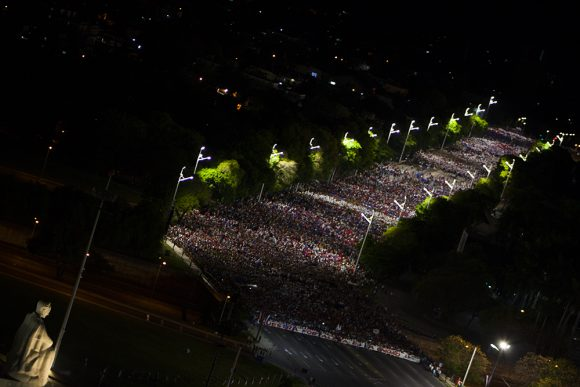 Madrugada movida para celebrar el Primero de Mayo. Foto: L Eduardo Domínguez/ Cubadebate