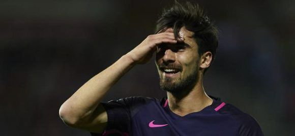 André Gomes, jugador portugués del Barça. Foto: Aitor Alcalde/ Getty.