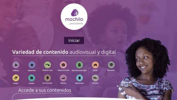Captura de pantalla del sitio de Mochila.
