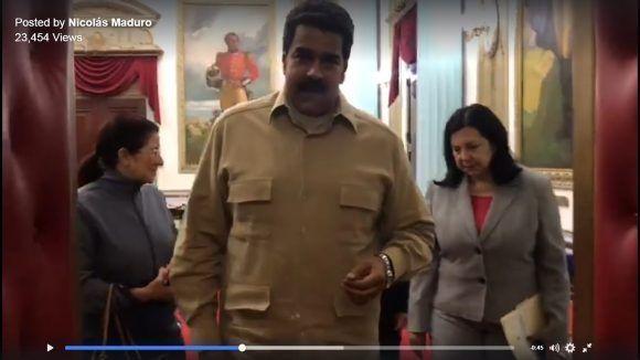 Captura de pantalla del video difundido a través de la cuenta en Facebook del presidente Maduro.