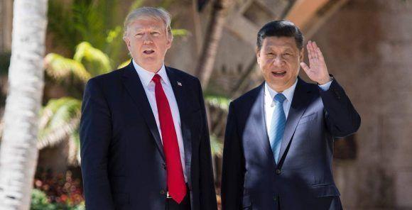 Donald Trump y Xi Jinping. Foto: AFP.