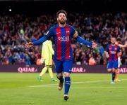 Messi fue sustituido 25 minutos antes del final, pero tuvo tiempo de marcar otros dos goles y reafirmarse como Pichichi de La Liga. Foto: Getty Images.