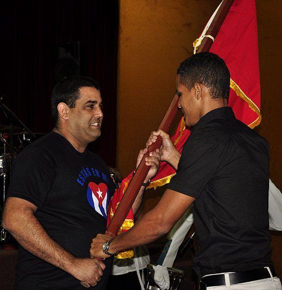 Acto por el 55 Aniversario de la UJC MININT. Foto: Roberto Garaycoa/ Cubadebate.