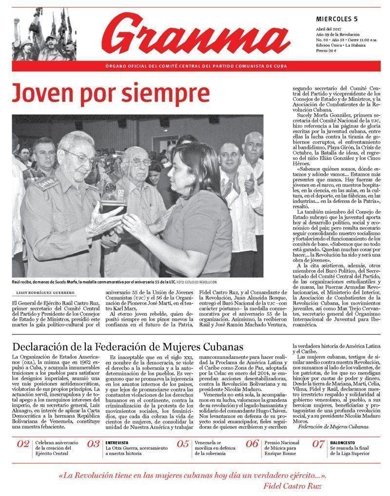 Qué trae la prensa cubana, miércoles 5 de abril de 2017 | Cubadebate
