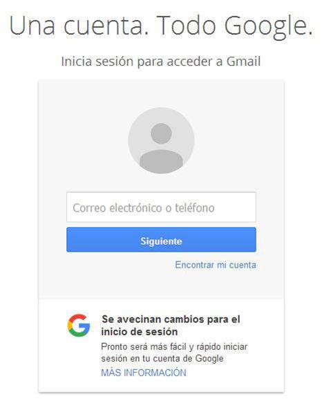 Gmail alerta de nuevo cambio en el inicio de sesión. Captura de pantalla