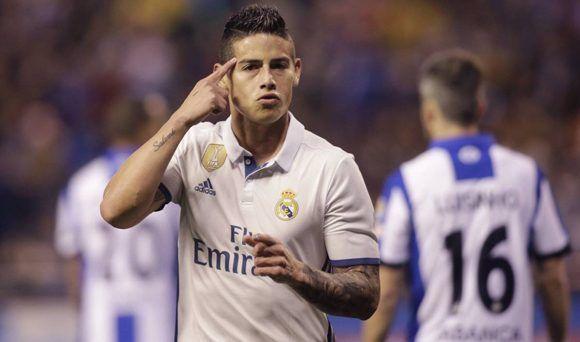 James anotó un doblete en un gran partido de los suplentes del Real Madrid.  Foto c3eb08781e1fb