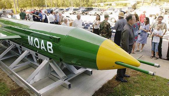 """El artefacto conocido como """"madre de todas las bombas"""" fue exhibido al público en alguna oportunidad. Foto: agencias."""