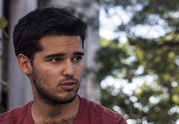 Marcelo Fornet Fornes, estudiante de matemática computación. Foto: L Eduardo Domínguez/ Cubadebate