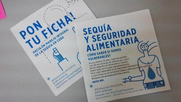 Materiales del PMA sobre el manejo de la sequía. Foto: PMA.