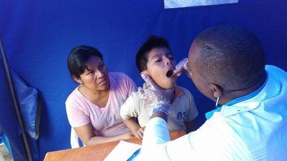 Los niños, la población más vulnerable, son atendidos especialmente. Foto: Dr. Enmanuel Vigil Fonseca.