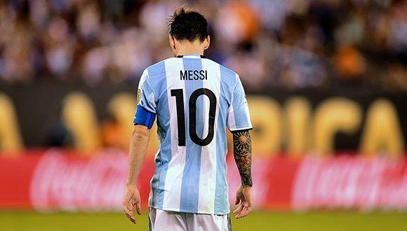 Messi después de fallar el penal en la última Copa América. Foto: AFP.