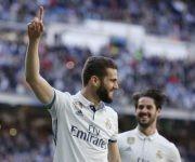 Nacho celebra el tercer gol del Real Madrid. Foto: Kiko Huesca/ EFE