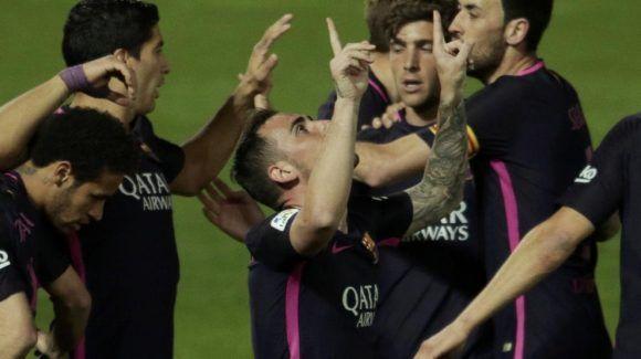 Paco Alcácer, autor del segundo gol del Barça en Granada. Foto: Pepe Marin/ Reuters.