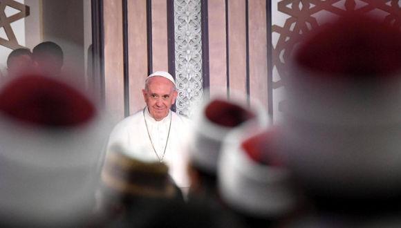 El Papa Francisco durante su visita a Egipto. Foto: EFE.