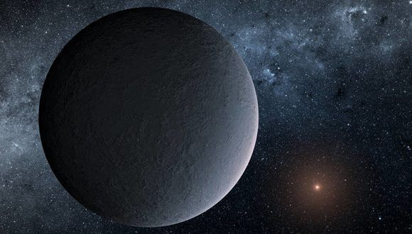 Representación artística del planeta OGLE-2016-BLG-1195Lb. Foto: NASA.