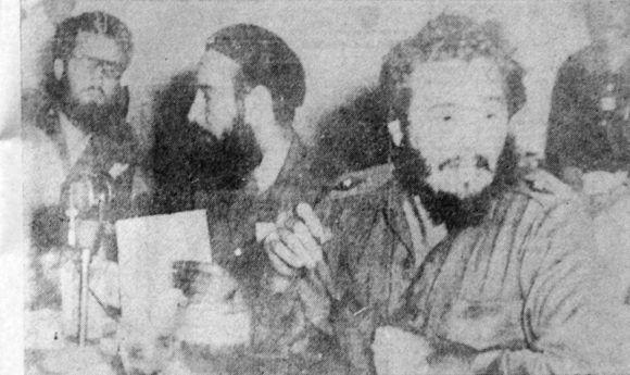 En una de las oportunidades de reunión con Fidel.