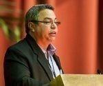 Ulises Guilarte de Nacimiento, presidente de la Comisión Organizadora del XX Congreso de la CTC, presenta el Informe Central del XX Congreso de la Central de Trabajadores de Cuba durante la primera sesión plenaria que tuvo lugar en el Palacio de Convenciones, el sábado 22 de febrero de 2014 en La Habana, Cuba. FOTO de Calixto N. Llanes/Juventud Rebelde (CUBA)