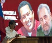 Nicolás Maduro durante el acto de solidaridad con Venezuela celebrado en La Habana. Foto: Ladyrene Pérez/ Cubadebate.