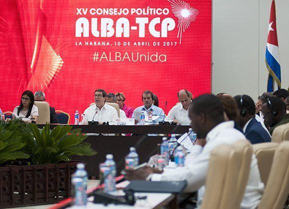 #ALBAUnida hoy en La Habana. Los países del ALBA expresan su respaldo y solidaridad con el pueblo y Gobierno de Nicaragua. Foto: Ladyrene Pérez/ Cubadebate.