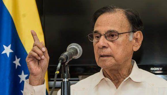 Intervención de Alí Rodríguez Araque, embajador de la República Bolivariana de Venezuela en Cuba. Foto: Marcelino Vázquez Hernández/ACN