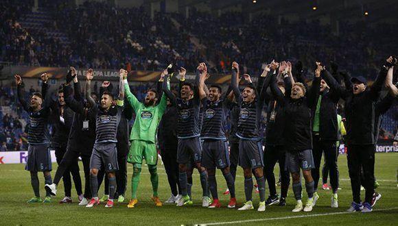 El Celta de Vigo está por primera vez en unas semifinales europeas. Foto: Reuters.