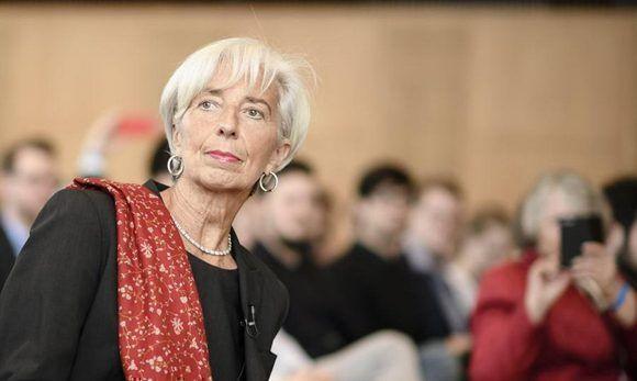 """La directora gerente del Fondo Monetario Internacional (FMI), Christine Lagarde, participa la conferencia """"Innovación, tecnología y crecimiento: """"Una conversación con Christine Lagarde"""". Foto: EFE."""