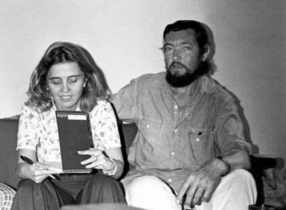 Cortázar y Poniatowska en una imagen de la Fundación María y Héctor García, del archivo de Elena Poniatowska.