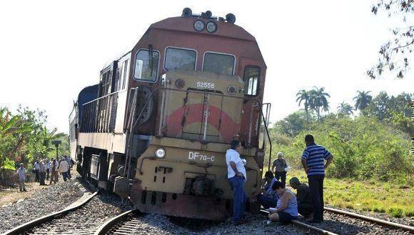 Descarrilamiento de tren en Sancti Spíritus interrumpe tráfico nacional