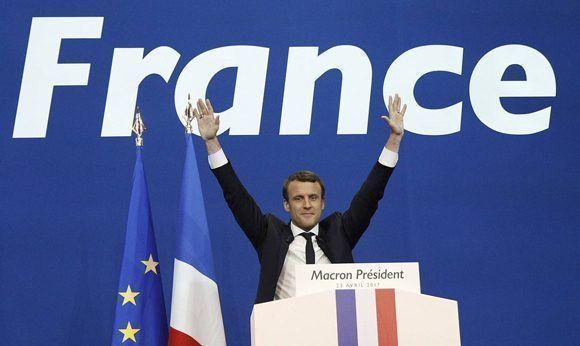 Emmanuel Macron ganó al primera vuelta de las elecciones en Francia con el 23,75% de los votos. Foto: EFE.