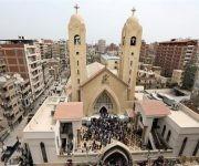 Cuarenta y cinco personas han muerto y los heridos ronda los 140 tras dos atentados perpetrados este domingo en dos iglesias coptas de Egipto. Foto: AFP.