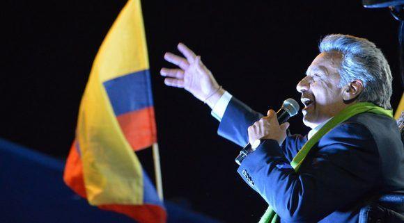 Lenín Moreno fue ratificado como presidente de Ecuador. Foto: @Lenín/ Twitter.